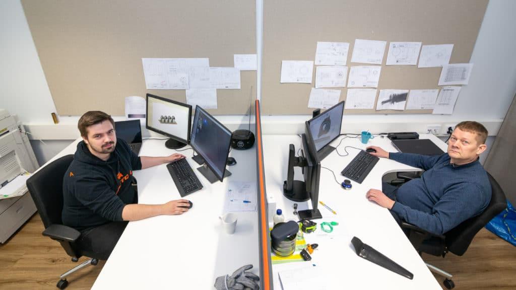 Finsen uudet työntekijät Niko Heinula ja Esa Surakka